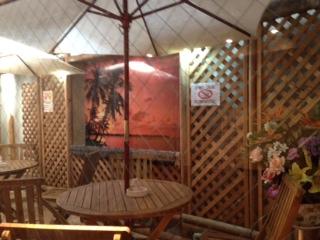 中野レンタルスタジオのバリ風中庭
