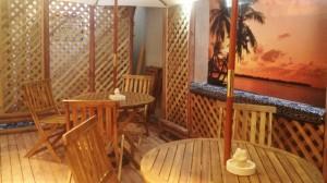 中野 レンタルスタジオ は外に休憩エリアがあります