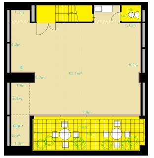 設備 の整った 中野 レンタルスタジオ の図面